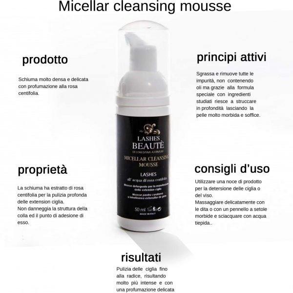 Schiuma detergente ciglia/viso